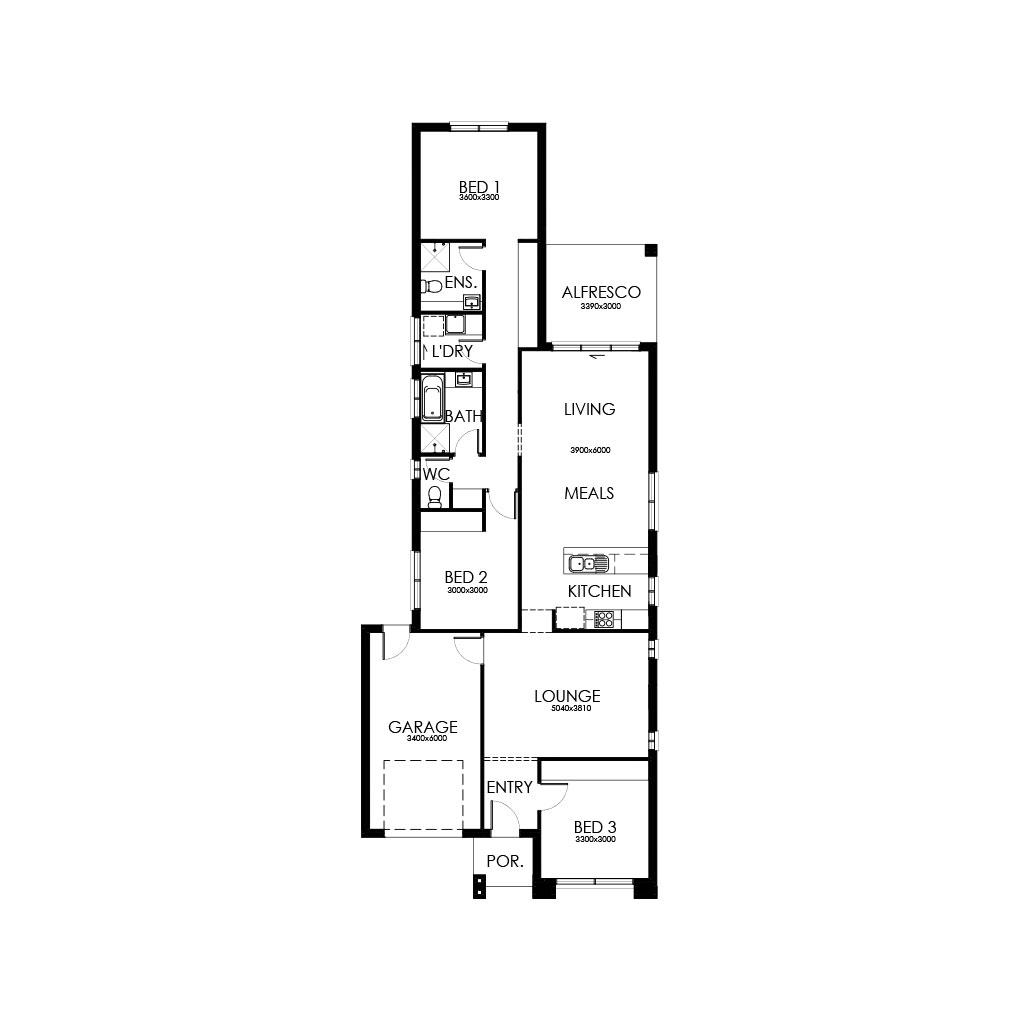 Matte Black 168 Floorplan