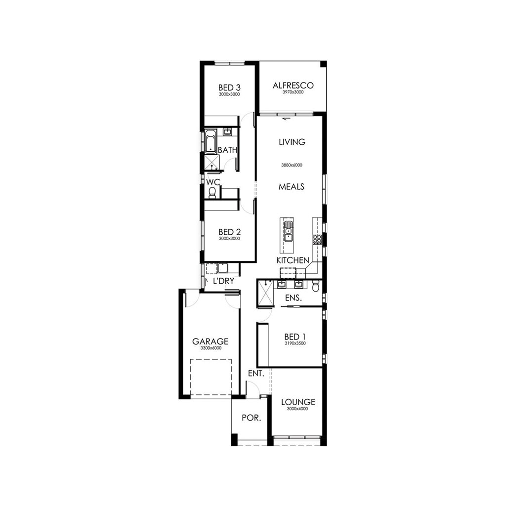 Matte Black 170 Floorplan