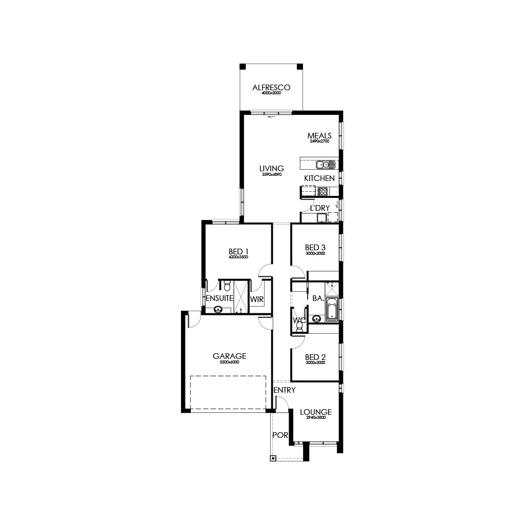 Matte Black 188 Floorplan
