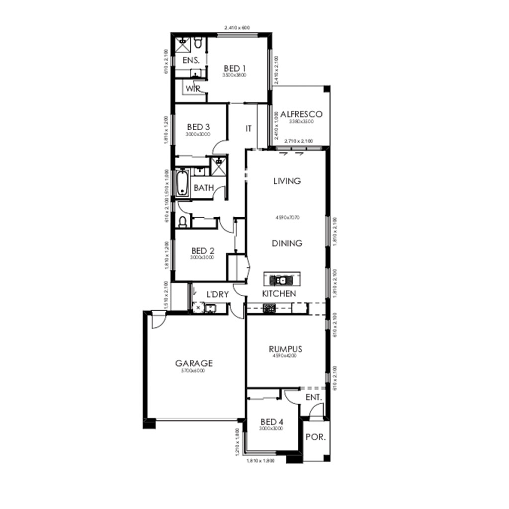Matte Black 220 Floorplan