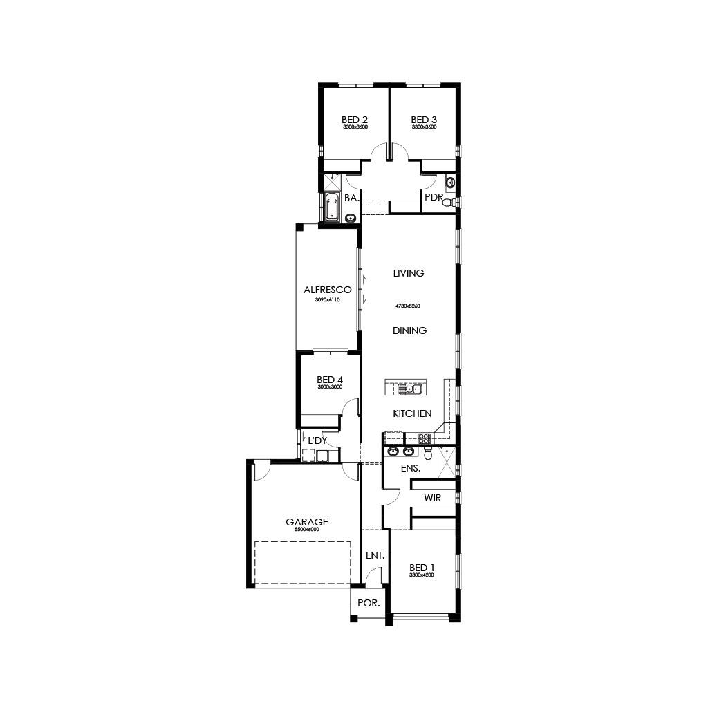 Matte Black 227 Floorplan