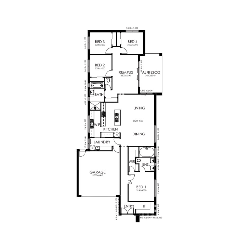 Matte Black 235 Floorplan