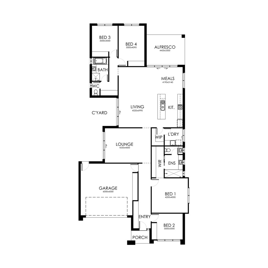 Matte Black 253 Floorplan