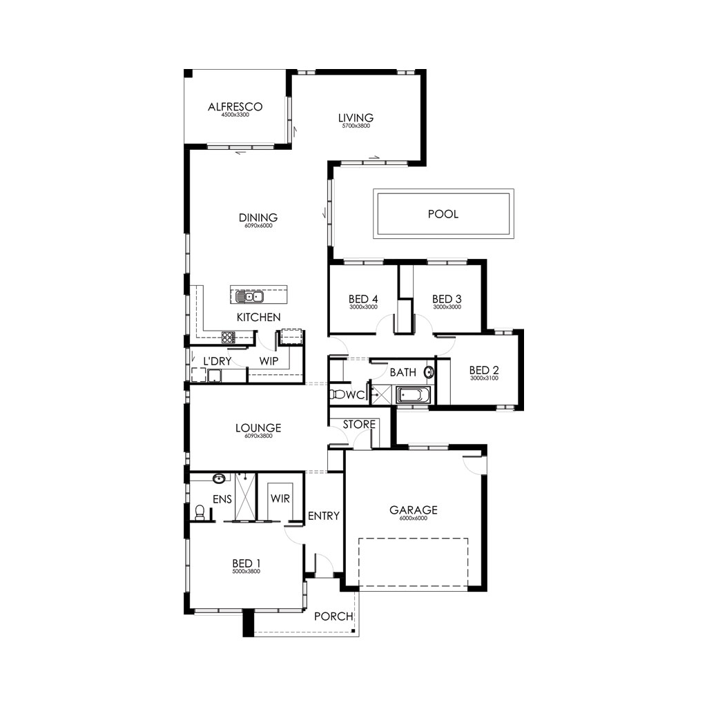 Matte Black 281 Floorplan