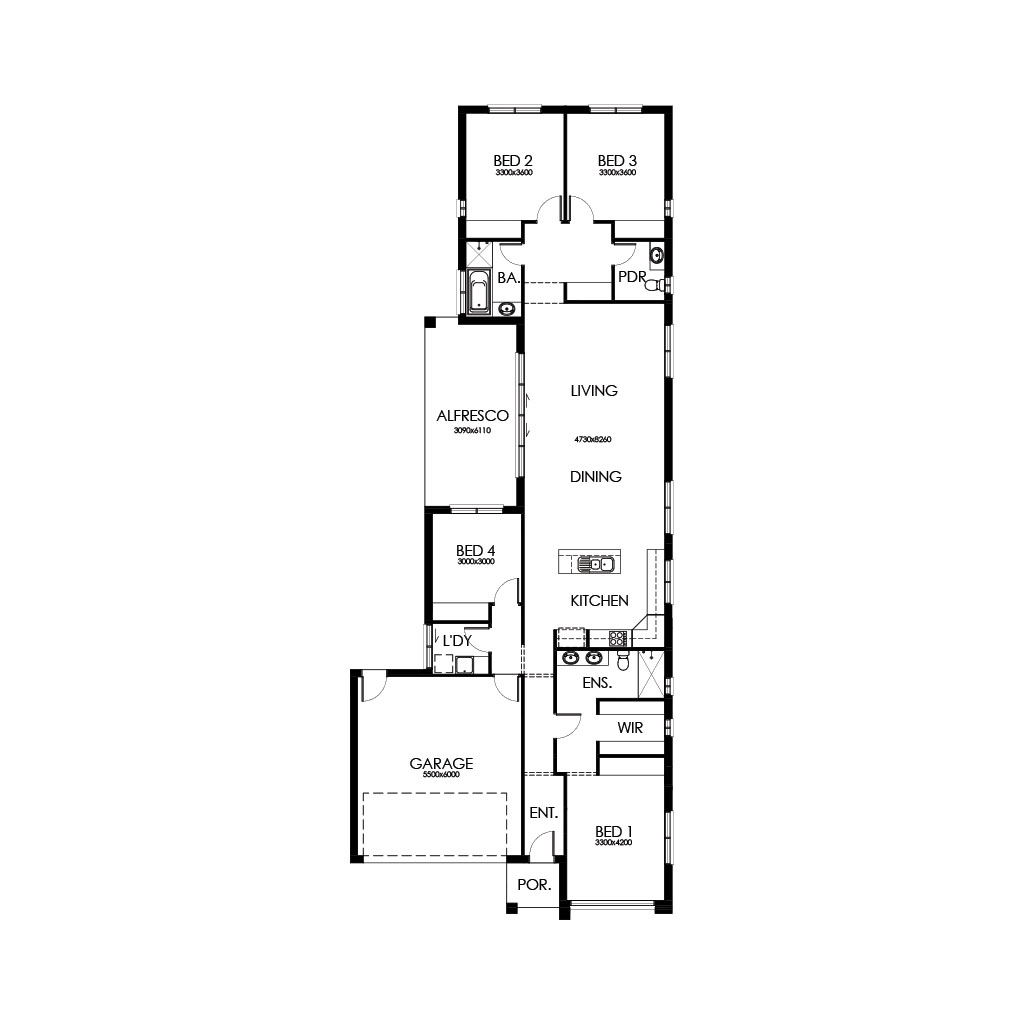 Palm Springs 227 Floorplan