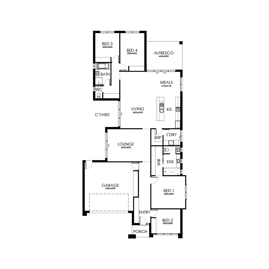 Palm Springs 253 Floorplan